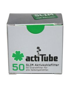 actiTube Slim Charcoal Filters - 50