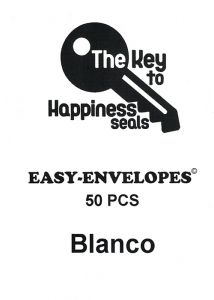Key To Happiness Pre-folded Seals LARGE 50pcs
