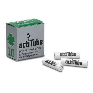 actiTube Slim Charcoal Filters - 10