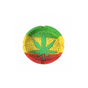 Ashtray Rasta Leaf