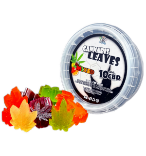 CBD Cannabis Leaves Gummies Mix- 10 mg