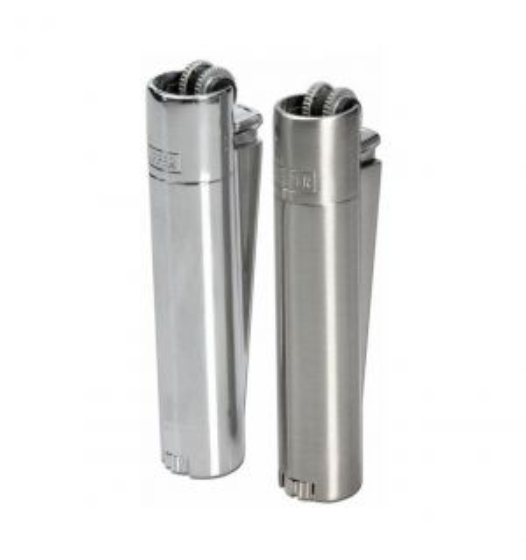 Metal Clipper Lighter Silver