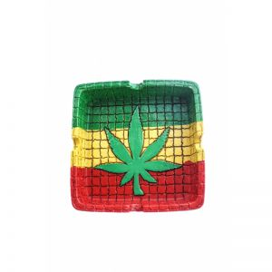 Ashtray Rasta Square