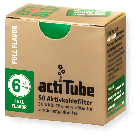 actiTube Extra Slim Charcoal Filters - 50
